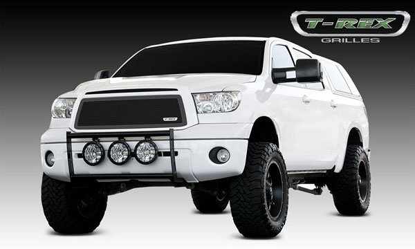 T-Rex 51963:  Toyota Tundra 2010 - 2012 Upper Class Mesh Grille - All Black - With Formed Mesh - Insert (No Logo)