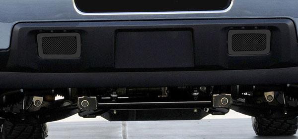 T-Rex 52115 |  Chevrolet Silverado HD 2011 - 2012 Upper Class Mesh Tow Hook Bumper Grille - 2 Pc - All Black