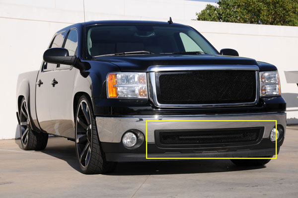 T-Rex (52205)  GMC Sierra 1500 & 07-10 HD 2007 - 2012 Upper Class Bumper Mesh Grille - All Black
