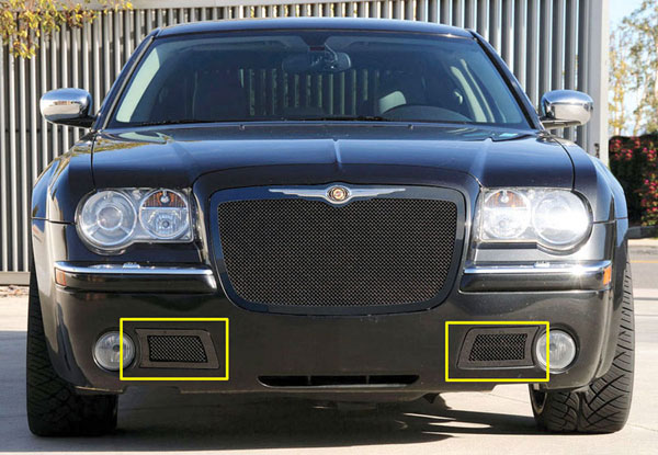 T-Rex 52471:  Chrysler 300C (Only) 2005 - 2010 Upper Class Mesh Bumper - 300C Only - All Black - With Formed Mesh