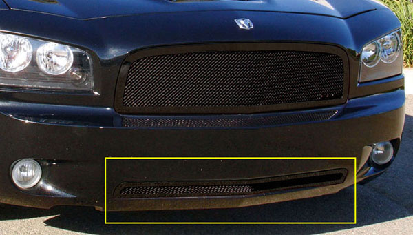 T-Rex 52474:  Dodge Charger 2005 - 2010 Upper Class Bumper Mesh Grille - All Black