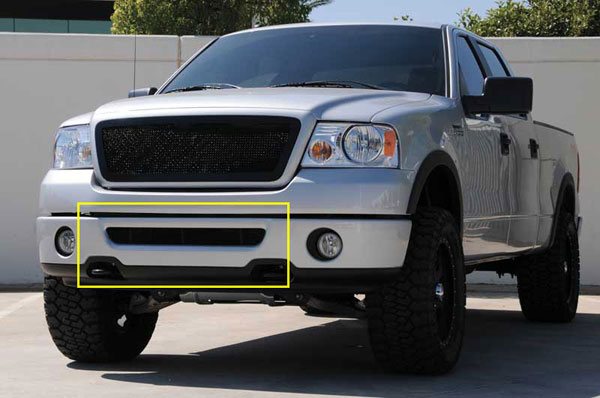 T-Rex 52555:  Ford F150 (All Models) 2006 - 2008 Upper Class Bumper Mesh Grille - All Black - With Formed Mesh (Mesh Only - No Frame)