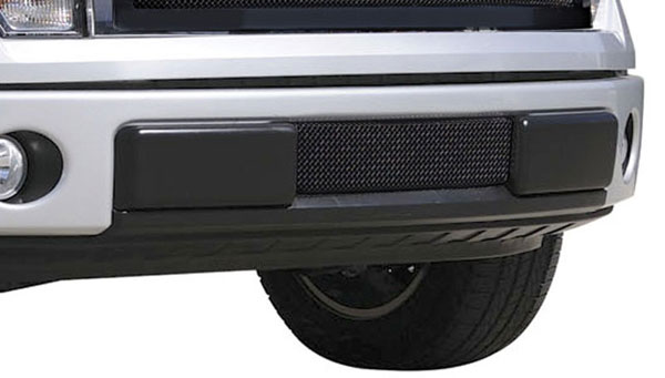 T-Rex 52569:  Ford F-150 2009 - 2013 Upper Class Bumper Mesh Grille - All Black - With Formed Mesh