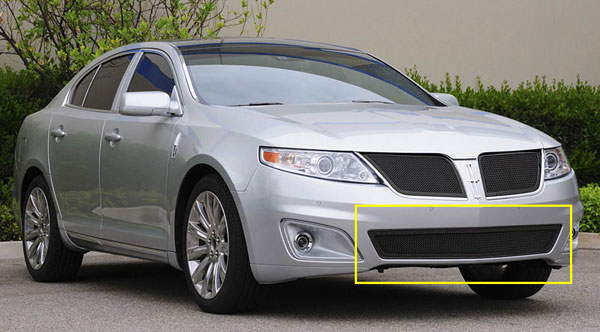 T-Rex 52718 |  Lincoln MKS - Upper Class Bumper Mesh Grille - All Black; 2009-2011