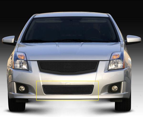 T-Rex 52764    Nissan Sentra 2.0 SR, SE-R - Upper ClassMesh Bumper - All Black; 2008-2012