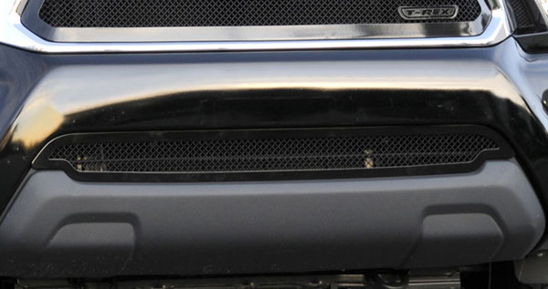 T-Rex 52938:  Toyota Tacoma 2012 - 2013 Upper Class Polished Stainless Bumper Mesh Grille - All Black