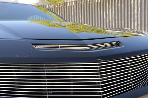 T-Rex 54026 |  Camaro SS Hood Grille Insert - Polished; 2010-2013
