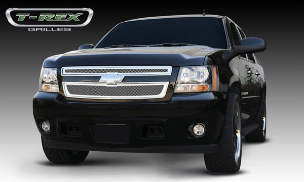 T-Rex 54051 |  Chevrolet Tahoe, Suburban, Avalanche - Upper Class Polished Stainless Mesh Grille - 2 Pc Style; 2007-2013