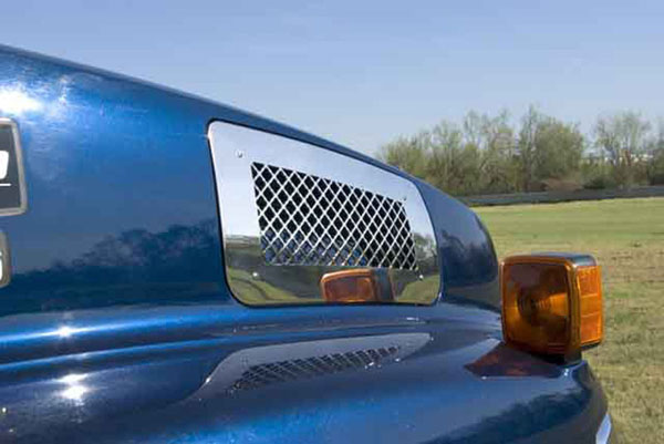 T-Rex 54084 |  Chevrolet Kodiak - Upper Class Polished Stainless Mesh Grille - Side Vent - Mesh Style; 2004-2010