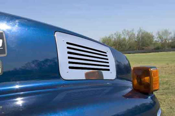 T-Rex 54085:  Chevrolet Kodiak 2004 - 2010 Upper Class Polished Stainless Mesh Grille - Side Vent - Lines Style