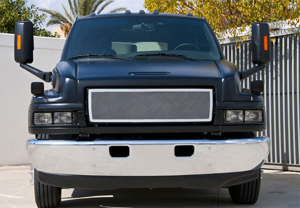 T-Rex 54087:  Chevrolet Kodiak 2004 - 2010 Upper Class Polished Stainless Mesh Grille - 1 Pc Style