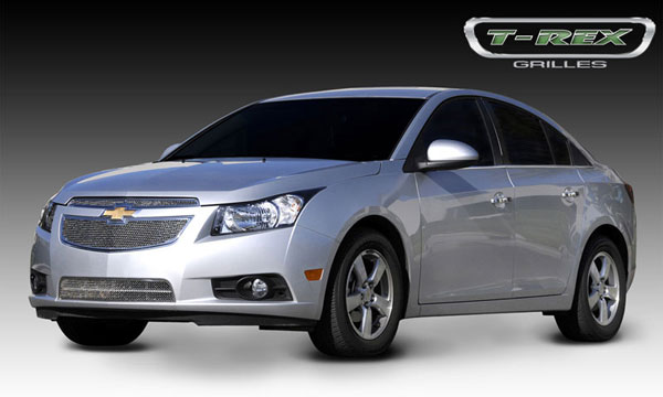 T-Rex 54125 |  Chevrolet Cruze - Upper Class Polished Stainless Mesh Grille - 2 Pc; 2011-2013
