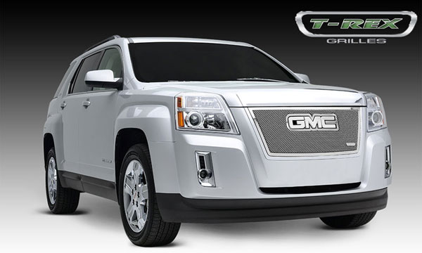 T-Rex 54153:  GMC Terrain 2010 - 2012 Upper Class Polished Stainless Mesh Grille - With Formed Mesh - Overlay w/ Logo Opening