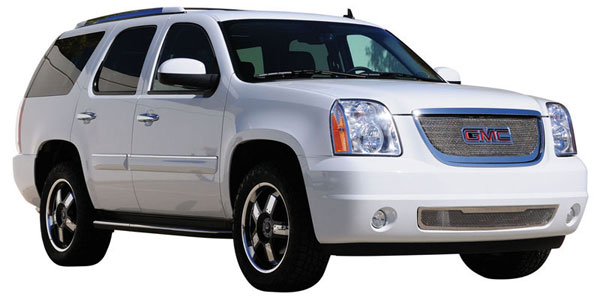 T-Rex (54172)  GMC Yukon 2007 - 2013 Upper Class Polished Stainless Mesh Grille - With Formed Mesh - Overlay w/ Logo Opening