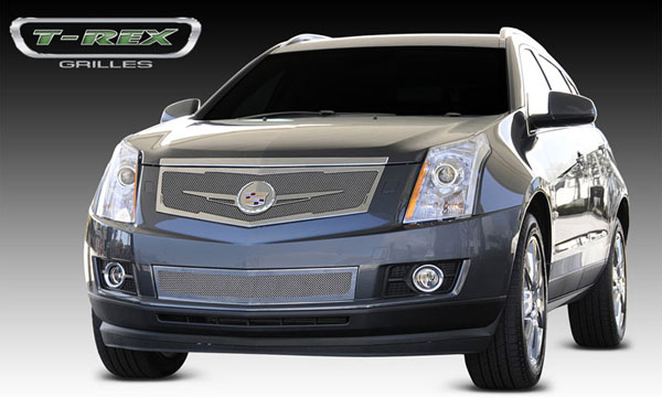 T-Rex 54186:  Cadillac SRX 2010 - 2013 Upper Class Mesh Grille, Replacement, Full Opening, w/ Winged OE Logo Plate, Polished