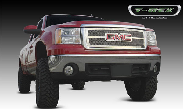 T-Rex 54204 |  GMC  Sierra 3500 1500 - Upper Class Polished Stainless Mesh Grille - Overlay w/ Logo Opening; 2007-2012