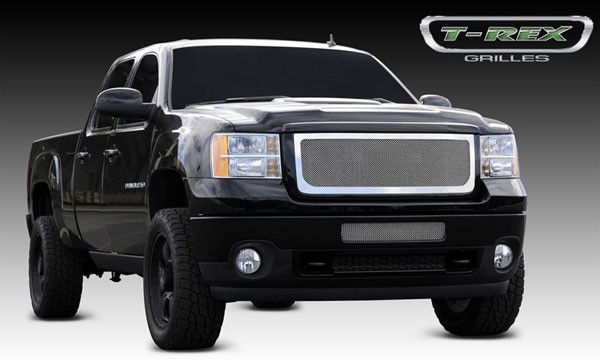 T-Rex 54209:  GMC Sierra 2500HD, 3500 2011 - 2011 Upper Class Polished Stainless Mesh Grille