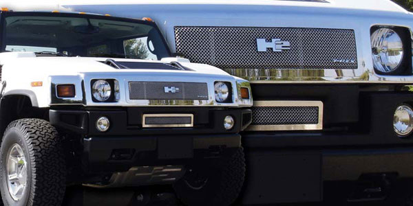 T-Rex 54295 |  Hummer H2 - Upper Class Polished Stainless Mesh Grille; 2008-2009