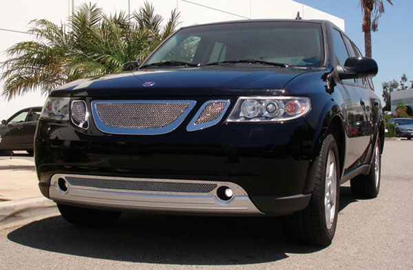 T-Rex 54305 |  Saab 9-7X - Upper Class Polished Stainless Mesh Grille - 3 Pc; 2007-2008