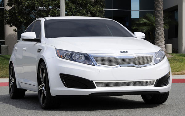 T-Rex 54320:  Kia Optima 2011 - 2011 Upper Class Polished Stainless Mesh Grille - With Formed Mesh Center (Will not fit SX or vehicles with Sporty Type Grille)