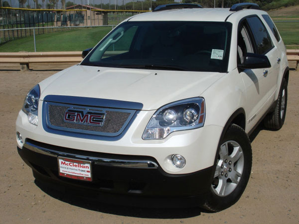 T-Rex 54386:  GMC Acadia 2007 - 2012 Upper Class Polished Stainless Mesh Grille - Overlay w/ Logo Opening