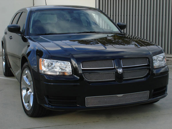 T-Rex 54462:  Dodge Magnum (Except SRT) 2008 - 2008 Upper Class Polished Stainless Mesh Grille - With Formed Mesh - 4 Pc