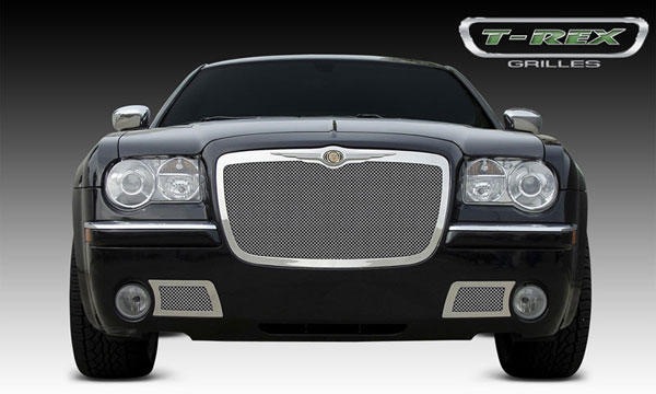 T-Rex 54471 |  Chrysler 300 (All) - Upper Class Polished Stainless Mesh Grille; 2005-2010
