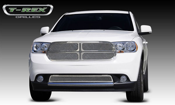 T-Rex 54492 |  Dodge Durango - Upper Class Polished Stainless Mesh Grille - 1 Pc grille replaces OE grille - 4 Pc look; 2011-2013
