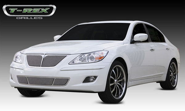 T-Rex 54494 |  Hyundai Genesis Sedan - Upper Class Polished Stainless Mesh Grille - With Formed Mesh Center; 2009-2010
