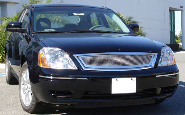 T-Rex 54520 |  Ford Five Hundred Sedan - Upper Class Polished Stainless Mesh Grille; 2005-2007