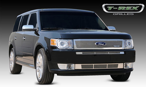 T-Rex 54523    Ford Flex - Upper Class Polished Stainless Mesh Grille - With Formed Mesh Center; 2009-2012