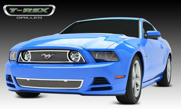 T-Rex 54525:  Ford Mustang GT 2013 - 2013 Upper Class Stainless Mesh Main Grille (will accept OE ''Pony'' Logo)