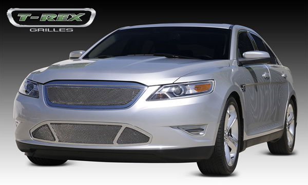 T-Rex 54526:  Ford Taurus SHO 2010 - 2011 Upper Class Polished Stainless Mesh Grille - With Formed Mesh Center