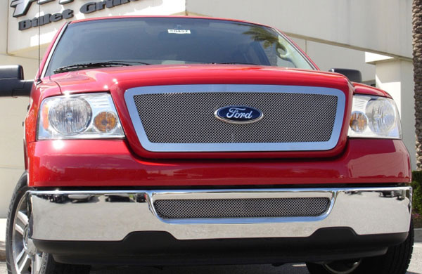 T-Rex 54556    Ford F150 (All Models) - Upper Class Polished Stainless Mesh Grille - Full Opening Flush Mount - Fits All Models; 2004-2008