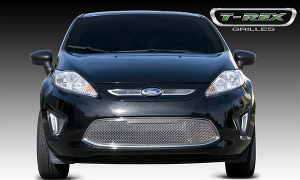 T-Rex 54588 |  Ford Fiesta - Upper Class Polished Stainless Mesh Grille - 2 Pc; 2011-2011