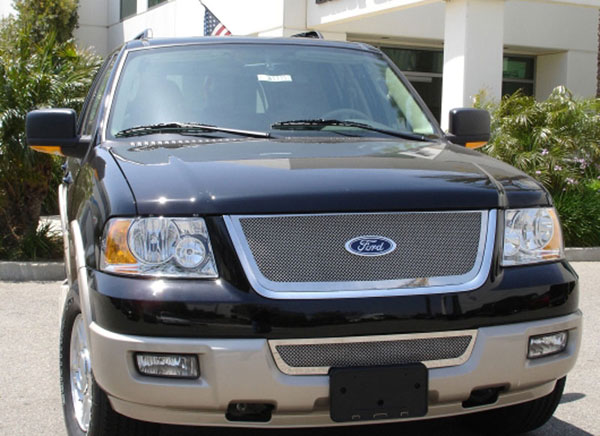 T-Rex 54590:  Ford Expedition 2003 - 2006 Upper Class Polished Stainless Mesh Grille
