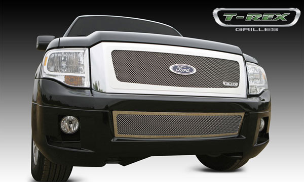 T-Rex 54594:  Ford Expedition 2007 - 2012 Upper Class Polished Stainless Mesh Grille