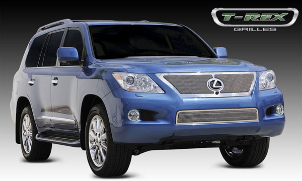T-Rex 54641:  Lexus LX 570 2008 - 2009 Upper Class Mesh Grille - With Formed Mesh Center (Grille has Logo Opening for OE Sensor)