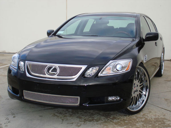 T-Rex 54642    Lexus GS 450h - Upper Class Polished Stainless Mesh Grille (Grille has logo opening for OE sensor) - With Formed Mesh Center; 2006-2008