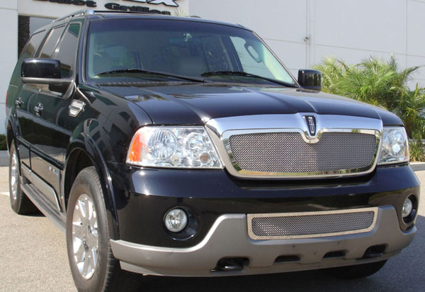 T-Rex 54695 |  Lincoln Navigator 2003 - 2006 Upper Class Polished Stainless Mesh Grille