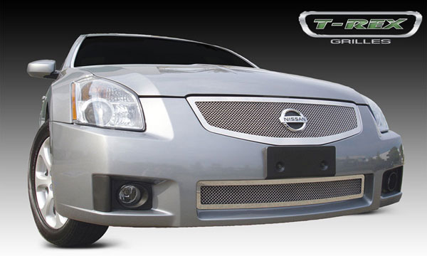 T-Rex 54757 |  Nissan Maxima 2007 - 2008 Upper Class Polished Stainless Mesh Grille
