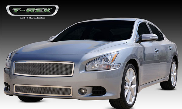 T-Rex 54758:  Nissan Maxima 2009 - 2012 Upper Class Polished Stainless Mesh Grille