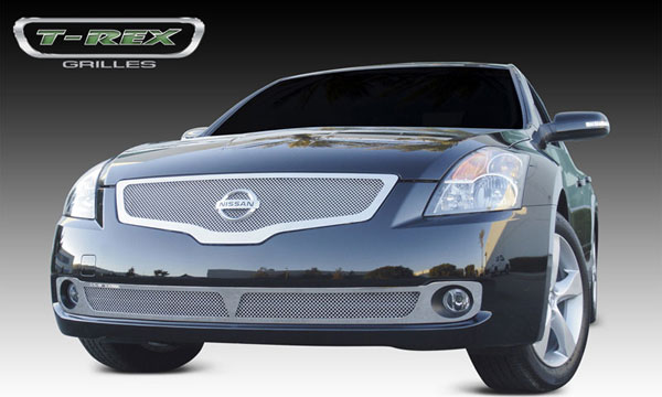 T-Rex 54762:  Nissan Altima 2007 - 2009 Upper Class Polished Stainless Mesh Grille