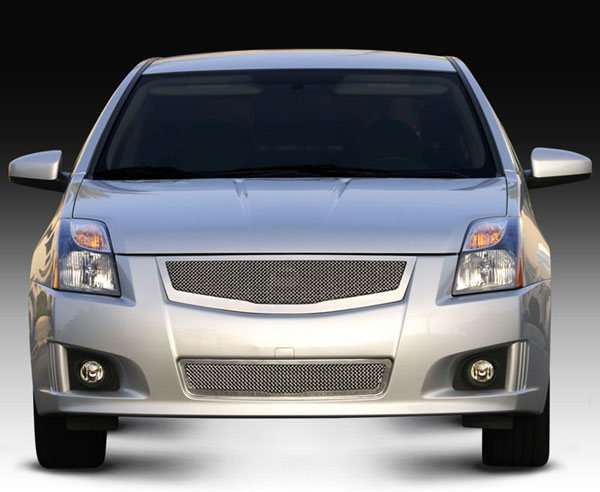 T-Rex 54764:  Nissan Sentra 2.0 SR, SE-R 2008 - 2012 Upper Class Mesh Grille fits vehicles w/ Sport Grille and Sport fascia