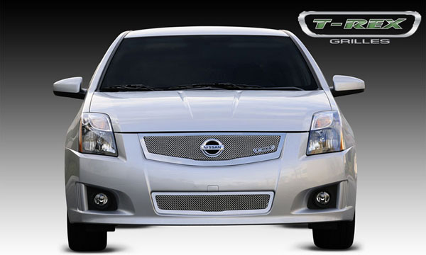 T-Rex (54765)  Nissan Sentra 2.0 SR, SE-R 2008 - 2012 Upper Class Mesh Grille w/ logo plate, fits vehicles w/ Sport Grille and Sport fascia