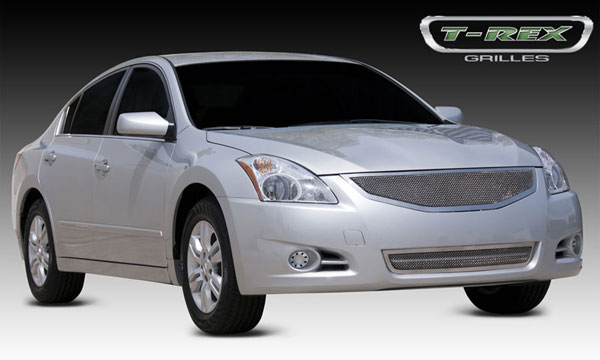 T-Rex 54767:  Nissan Altima 2010 - 2012 Upper Class Polished Stainless Mesh Grille - Replaces Factory Grille Shell - With Formed Mesh Center