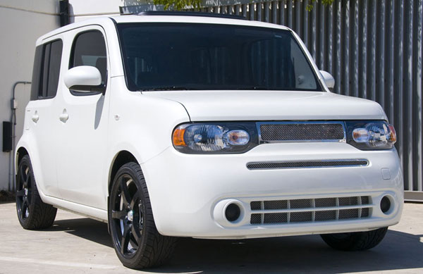 T-Rex 54772:  Nissan Cube 2009 - 2012 Upper Class Polished Stainless Mesh Grille (Includes upper main grille)