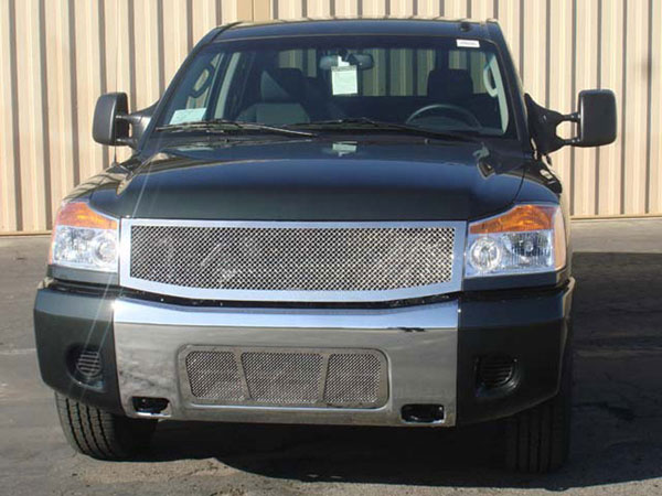 T-Rex 54779:  Nissan Titan (04-07 Armada) 2004 - 2012 Upper Class Polished Stainless Mesh Grille - 1 Pc (Replaces OE Grille)