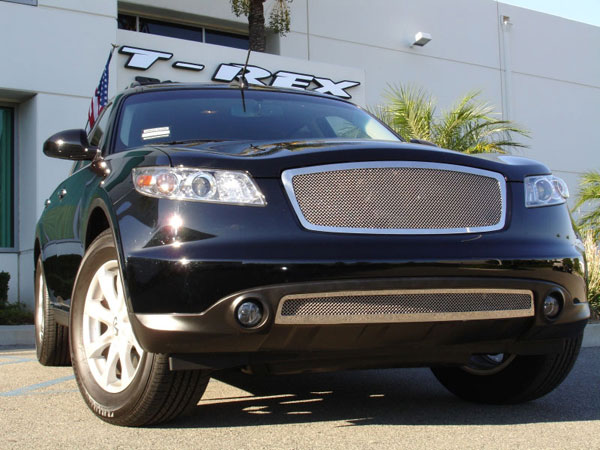 T-Rex 54801 |  Infiniti FX - Upper Class Polished Stainless Mesh Grille; 2006-2008