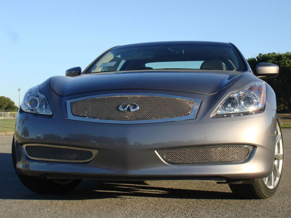 T-Rex (54810)  Infiniti G-37 (2 Door Coupe) 2008 - 2012 Upper Class Polished Stainless Mesh Grille - With Formed Mesh Center